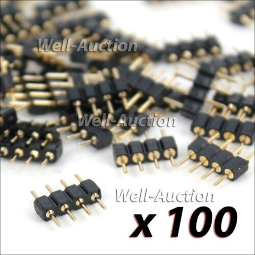 100 RGB SMD LED Stecker Verbinder Connector Adapter 4 Pol Pin Strip Kabel Leiste