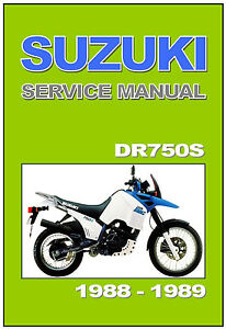 suzuki workshop manual dr750s dr750 big 1988 1989 service repair rh ebay ca suzuki dr 750 big - 800s service manual (alemão).pdf manual taller suzuki dr big 750