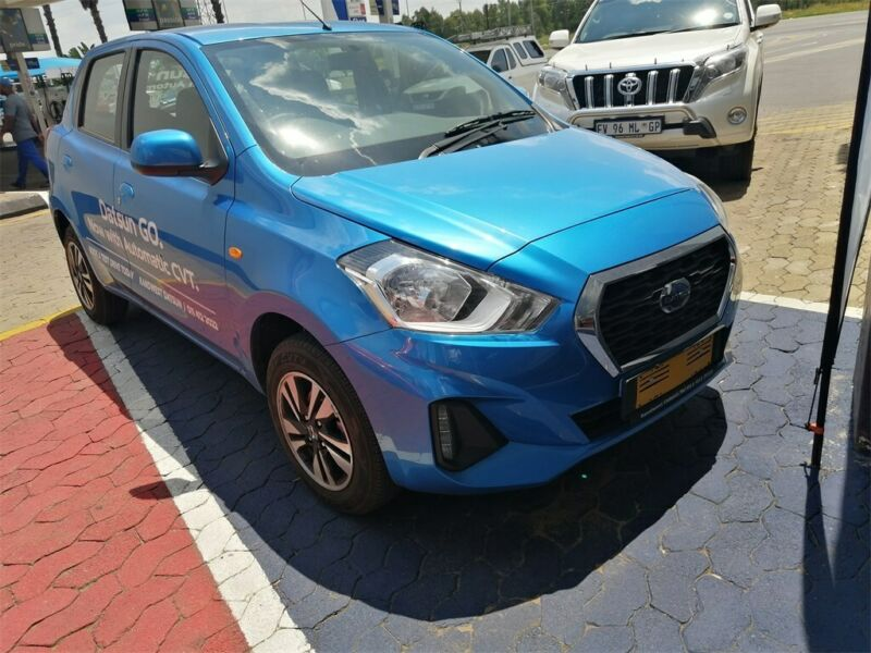Blue Datsun Go 1.2 Lux CVT with 9000km available now!
