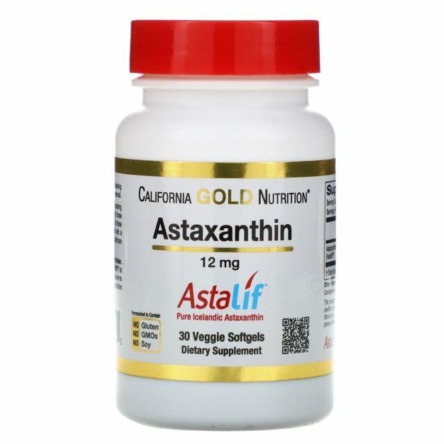 Astaxanthin, AstaLif Pure Icelandic, 12 mg, 30 Veggie Softgels