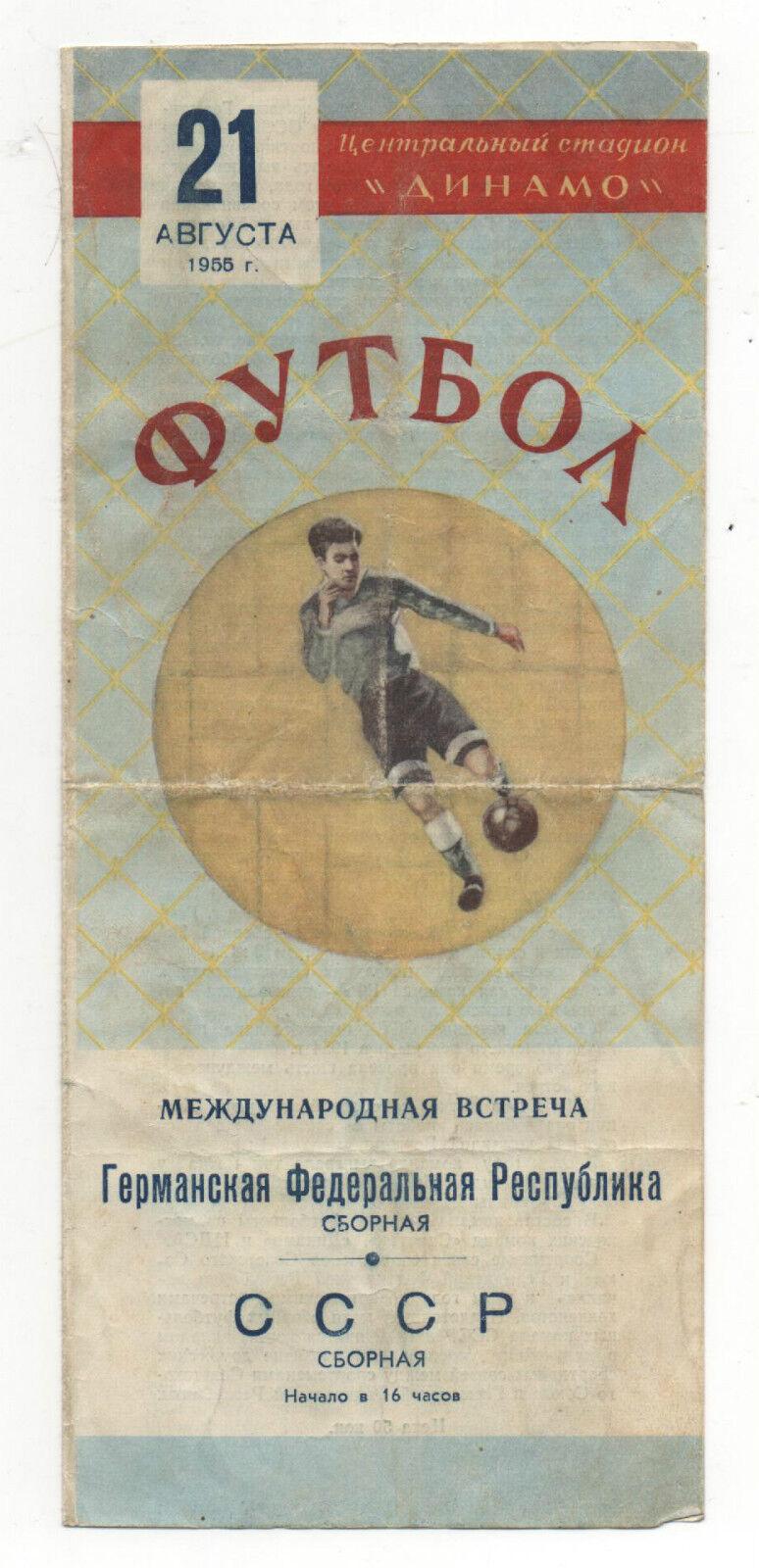 Original PRG   21.08.1955   UdSSR / SOVIETUNION - DEUTSCHLAND       TOP RARITÄT