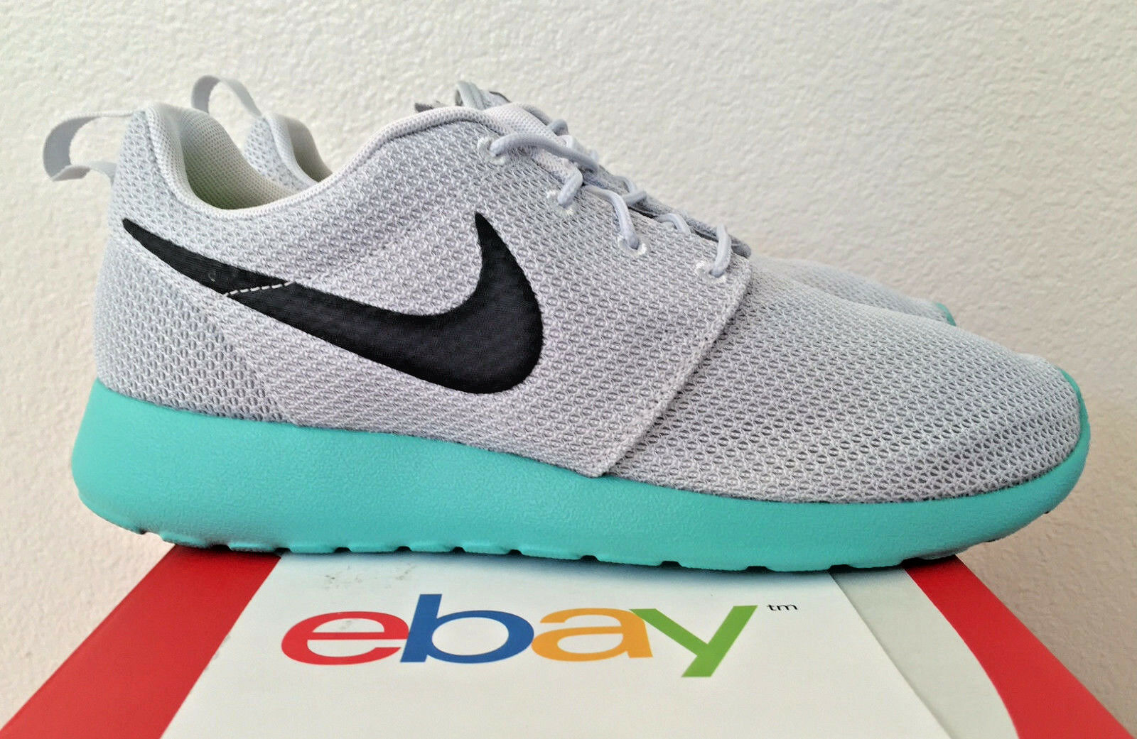 DS Nike Roshe One CALYPSO Size 8.5 pure platinum blue 2nd release run 511881 013