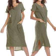 8f23db7cbca item 7 Women Summer Plus Size S-5XL Casual Loose Pocket Cotton Linen Long  Maxi Dress -Women Summer Plus Size S-5XL Casual Loose Pocket Cotton Linen  Long ...