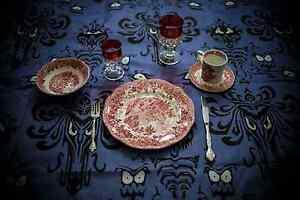 disney world haunted mansion full dining room set ride prop rare