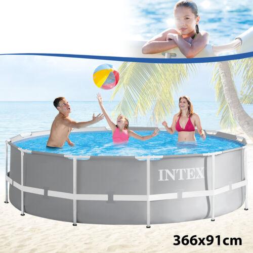 Intex Frame Stahlrohrbecken Swimming Pool Schwimmbad Schwimmbecken Planschbecken