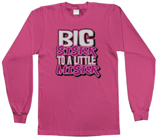 Threadrock Kids Big Sister To A Little Mister Youth L//S T-shirt Cute Family