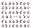 Nail-Stickers-Water-Decals-Transfers-Unicorns-Feathers-Flamingos-Butterflies miniatuur 6