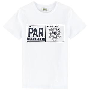 5446bd32 NWT KENZO KIDS T-shirt Tiger Classic Prin White Tee Women Youth ...