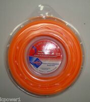 Rotary # 12137 Square Trimmer Line Orange Commercial Grade #.105 Dia 100' Feet 1 2 LBS Loop Garden