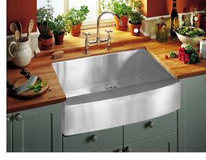 """Stainless Steel Farmhouse Kitchen Sinks 33"""" single bowl stainless steel farmhouse apron kitchen sink-apron"""