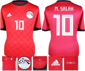 ccbd331a3 M. SALAH 10 - EGYPT HOME 2018 WORLD CUP ADIDAS SHIRT SS   ADULTS ...