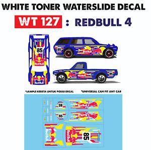 WT257 White Toner Waterslide Decals /> SUB 555 />For Custom 1:64 Hot Wheels