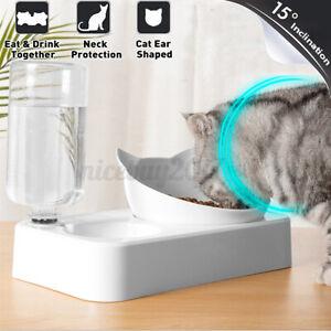 2-in-1-Automatischer-Wasserspender-Haustier-Hund-Welpe-Katze-Katzenfutterschale