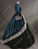 Renaissance Victorian Dress Masquerade Gown Steampunk Theater Clothing 164