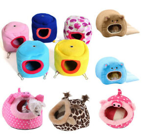 US-Pet-Hamster-Cage-Winter-Warm-Bed-Rat-Hammock-Squirrel-Toy-House-Hanging-Nest