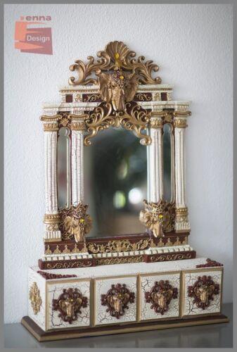 XL ELEFANT Kommode Schubfächer u.Spiegel Orient Stil 78 cm ho beige *NEU* 63