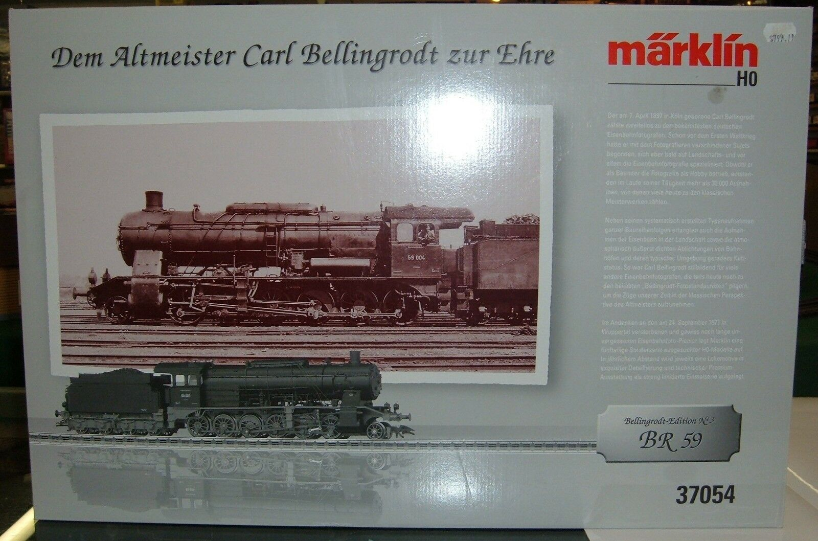 Marklin HO 37054 German State Railway Company DRG Class 59 Freight Locomotive
