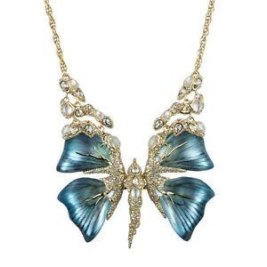 New alexis bittar rhinestone jardin myst re butterfly bib for Jardin necklace