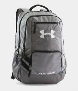 1a3622eb365 Under Armour Hustle II Backpack 1263964 Graphite for sale online   eBay