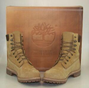 Dettagli su Timberland MADE IN USA 8 pollici Waterproof Boot. Wicket Crate (FRUMENTO) Taglia 9M mostra il titolo originale