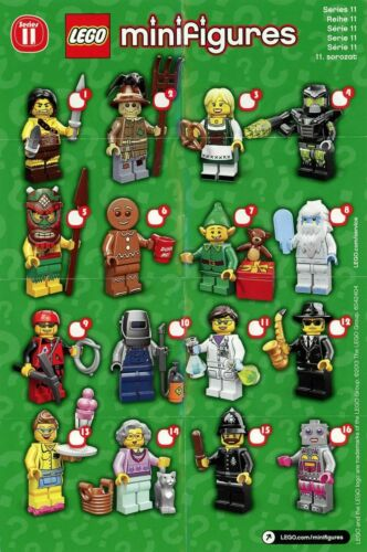 LEGO Collectable Minifigure Series 11 Leaflet ONLY 1 Supplied