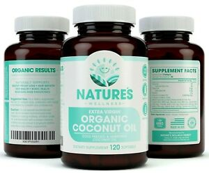 2000mg-Organic-Coconut-Oil-120-Count-For-Skin-Weight-Loss-Hair-Growth