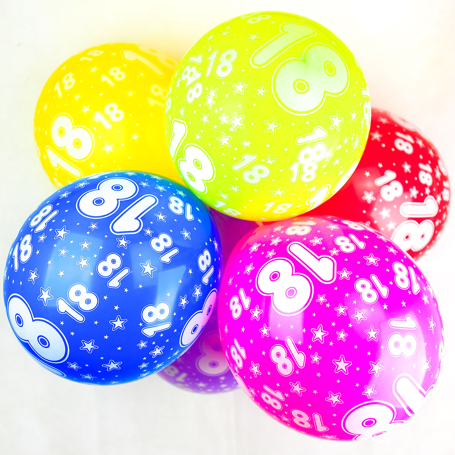 Pack of 10 12 Latex Assorted Numbers Birthday Balloons Number 1 Happium