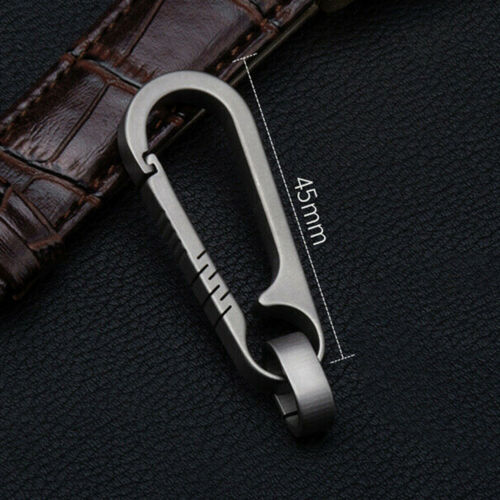 1X Titanium Alloy Keychain Car Key Holder Outdoor Carabiner Backpack Buckle Tool