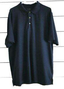 Grand-Slam-Men-s-2XL-Blue-Collared-Striped-Short-Sleeve-Golf-Shirt-Polo-XXL