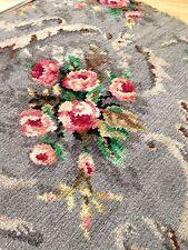 vintage retro 50's Axminster? Original Floral Small  Rug