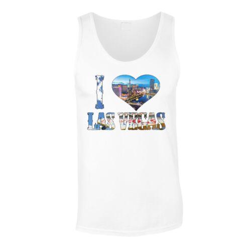 Me encanta Las Vegas EE para hombre Camiseta//Camiseta sin mangas r934m UU