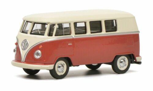 Schuco 20171 Scala 1:64 VW t1 Bus Rosso//Beige scatola originale e nuovo.