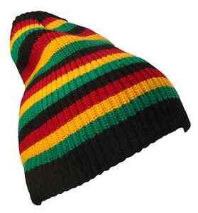 Striped Jamaican Reggae Rasta Knit Beanie Cap Hat Caps Hats Black ... 6ab6f5f8d82