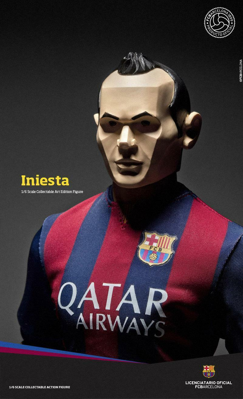 ZC World FCBarcelona Art Edition2014 15 - Iniesta Soccer Player Figure   164