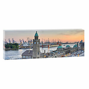 panorama bilder auf leinwand leinwand hamburg poster xxl 120 cm 40 cm 473 ebay. Black Bedroom Furniture Sets. Home Design Ideas