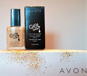 AVON-Gel-Finish-7-in-1-Nail-Enamel-CREME-BRULEE-High-Shine-NIB-10-VALUE