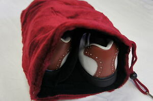 Soft Acrylic Shoe Bag, Two Compartments, Red, Keep Clean & Avoid Scuffing