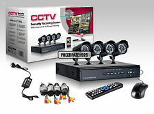 KIT VIDEOSORVEGLIANZA 4 TELECAMERE INFRAROSSI + DVR + ALIMENTATORE + CAVETTERIA