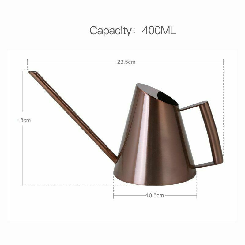 Watering Can Long Mouth Stainless Steel for Succulent Flowers Gardening Tools