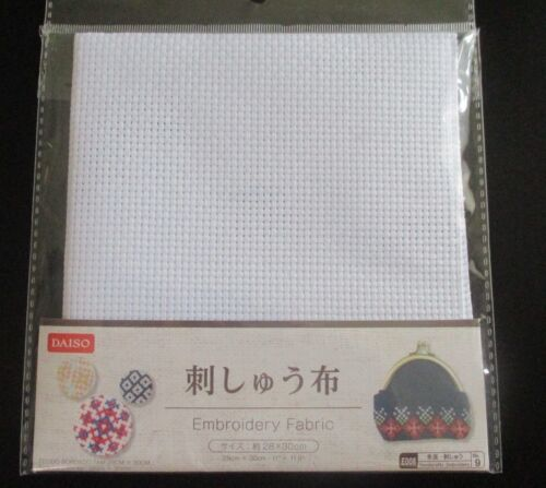 30cm For CROSS STICH DAISO JAPAN WHITE EMBROIDERY  FABRIC 28