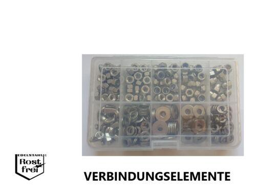 Unterlegscheiben//Muttern Sortiment 320 Teile EDELSTAHL A2 M6 versandkostenfrei