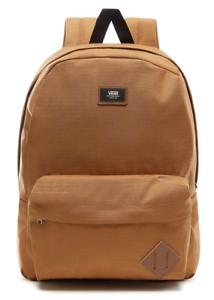 Vans School Bag Old Skool II Backpack Classic Brown Tan Casual Travel Rucksack