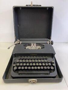 Vintage LC Smith & Corona Typewriter USA Made Matte Black w/ Case