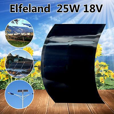 25W 18V Elfeland Sunpower Flexible Solar Panel Battery Charger For Home RV Boat