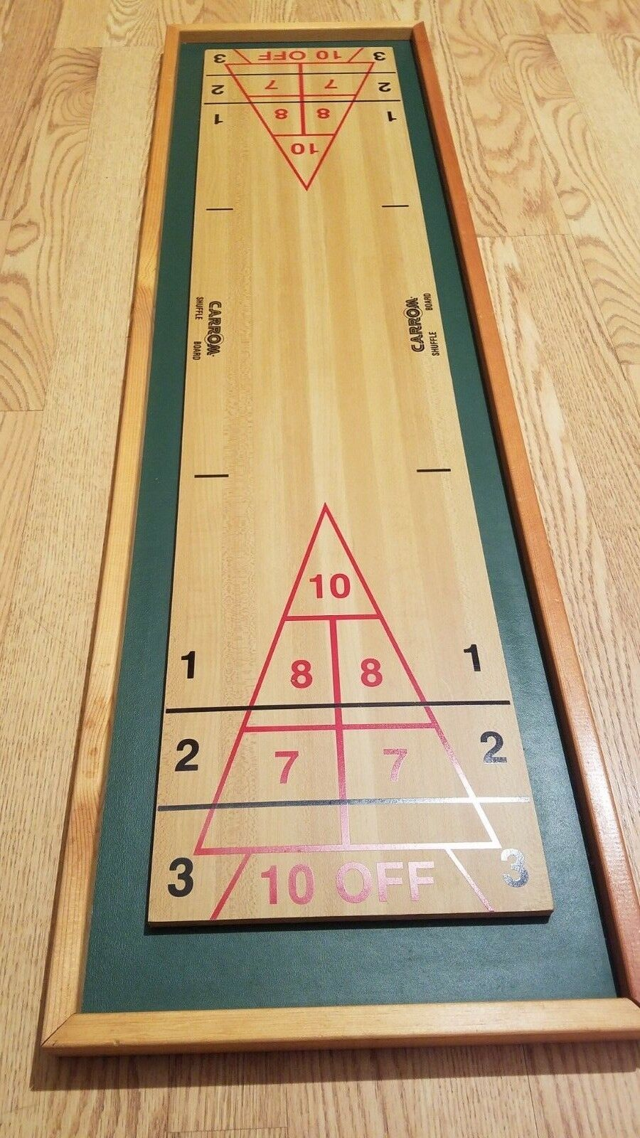 Vintage Carrom Shuffle Board Only  44-1/2