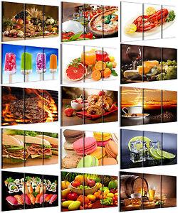 Stampe su tela food 120x90 cm 3pz quadri moderni for Arredamento cucina ristorante