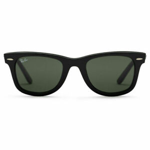Ray-Ban RB2140 901 50-22 Wayfarer Green Lenses Unisex Classic Sunglasses - Black