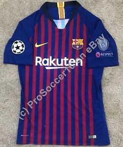 best service 62a65 fbe68 Details about 2018/19 FC Barcelona Home Kit -Player version - Champions  League - LaLiga