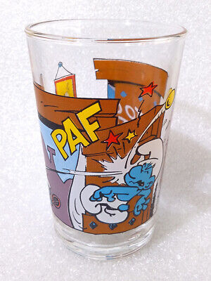 Details about  /RARE Vintage Water Cup ✱ SMURFS SCHLUMPFE SCHTROUMPFS ✱ Collection Glass 1976 #1