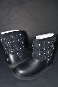 4615d4cce04 Details about NIB Kids Girls Ugg Classic Short II Petal Boots 1019818 Black  sz 3-6 Shearling